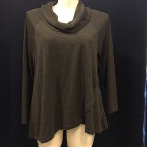 Style & Co size XL grey cowl neck top